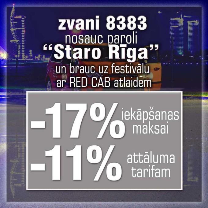 Staro Rīga ar Red Cab