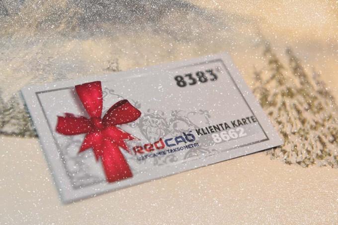 Ziemassvētku dāvana - Red Cab dāvanu karte!