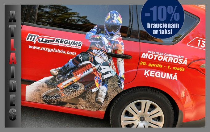 AtlaidesRed Cab braucieniem uz Pasaules čempionātu motokrosā!