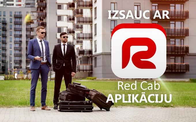 Kāpēc izsaukt taksometru ar Red Cab aplikāciju?