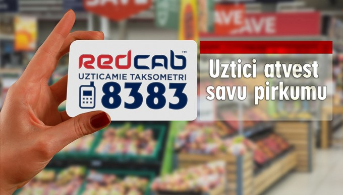Uztici Red Cab takosmetriem savu pirkumu piegādi!