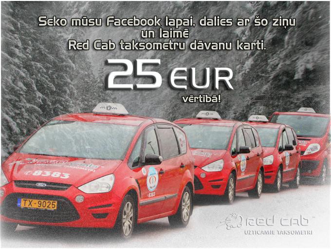 Izaicini savu veiksmi Red Cab dāvanu kartes ziemas izlozē!
