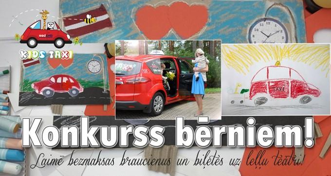 Konkurss bērniem kopā ar Kids Taxi.