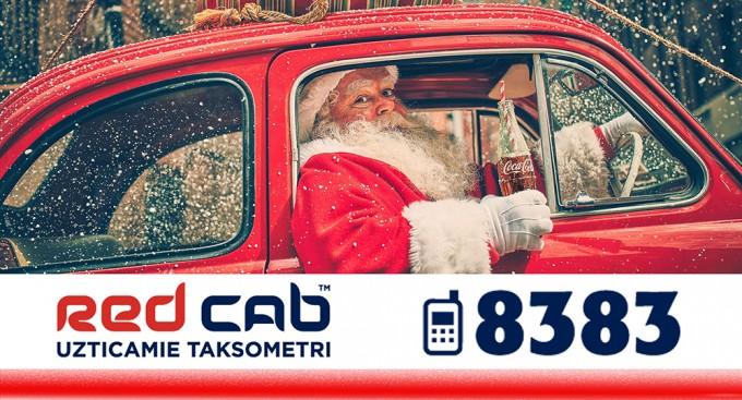 Red Cab Ziemassvētkos pārvēršas par Coca Cola Christmas taxi.
